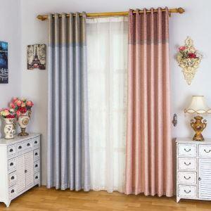 Dekorativer Vorhang Jacquard Design aus Polyester im Wohnzimmer (1er Pack)