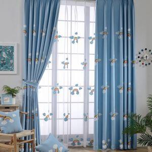 Vorhang Regenbogen Stickerei aus Polyester für Kinderzimmer (1er Pack)