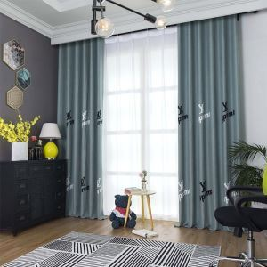 Kreativer Vorhang Buchstabe Motive für Wohnzimmer (1er Pack)