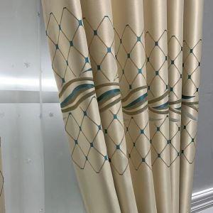 Moderner Vorhang Raute Design Jacquard für Wohnzimmer (1er Pack)
