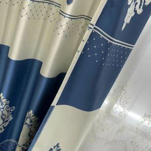 Moderner Vorhang im europäischen Stil Floral für Wohnzimmer (1er Pack)