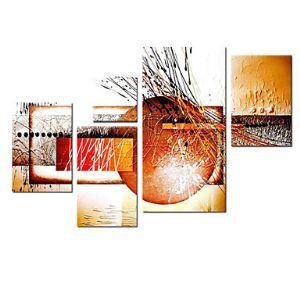 Handgemaltes abstraktes Ölgemälde ohne Rahmen - 5 Teile