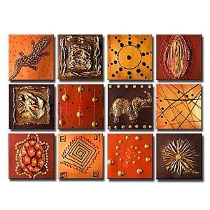 Handgemaltes Tier Ölgemälde ohne Rahmen - 12 Teile