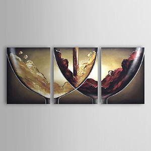 Handgemaltes Landschaft-Ölgemälde abstrakt übergroß 3 Teile ohne Rahme