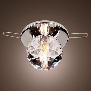 (EU Lager)K9 Mini Kristall-Einbauleuchte, Kugelform