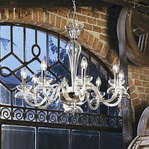 (EU Lager)Moderner Kristall Kronleuchter, 8-Flammig, Kerzenform, Transparente Farbe