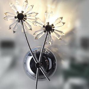 (EU Lager)Kristall Wandleuchte mit 2 Leuchten - Floral Schirm