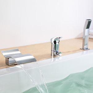 (EU Lager)Wasserfall Badewannenarmatur Wasserhahn mit Handbrause