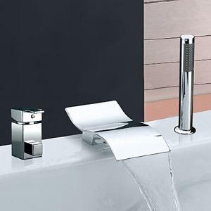 Wasserfall Badewannenarmatur Modern mit Handbrause Einhebel