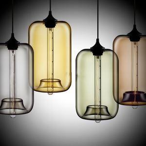 Glas Pendelleuchte Modern in Blase-Design im Esszimmer