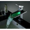 LED Wasserfall Wasserhahn Bad Waschtischarmatur