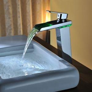 (EU Lager)LED Waschtischarmatur Einhand Wasserhahn
