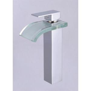 (EU Lager)Waschtischarmatur Glas Wasserfall Mischbatterie(tall)