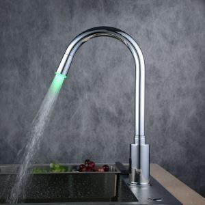 (EU Lager)Messing Sensor Chrom Oberfläche Badezimmer Waschtischarmatur