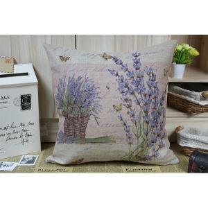 (EU Lager)Pastoral Retro Kreative Lavendel Baumwolle & Leinen Kissenbezug