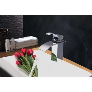 (EU Lager)Modern Zeitgenössisch Wasserfall Waschtischarmatur Einhand (MS109)