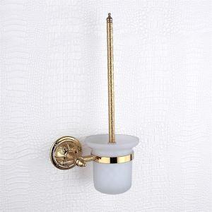 (EU Lager) WC Bürstengarnitur, Messing, Golden Oberfläche