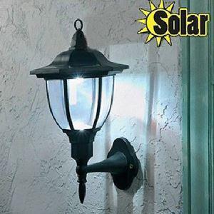 (EU Lager)Außen Solar Wandleuchte mit 4 LEDs für Garten, Wege, Weißes Licht