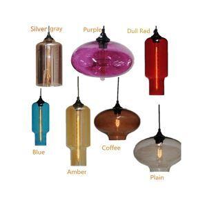 Zeige Details für Moderne Glas Pendelleuchte in Flaschen Design 1 flammig