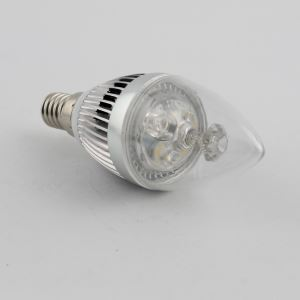 (EU Lager)3W E14 LED Kerzenlampe Warmweiß/Kaltweiß 270 LM AC85-265V Silber-Gehäuse