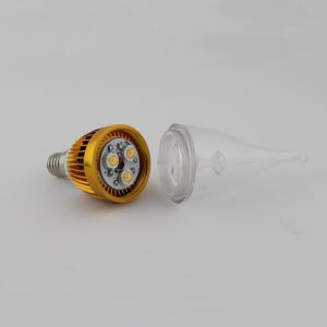 (EU Lager)3W E14 LED Kerzenlampe Warmweiß/Kaltweiß 270 LM AC85-265V Gold Gehäuse