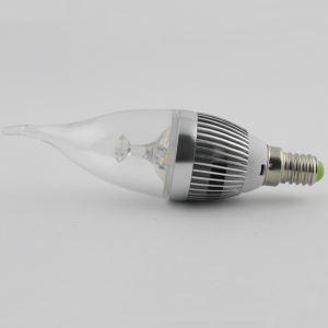 (EU Lager)3W E14 LED Kerzenlampe Warmweiß/Kaltweiß 270 LM AC85-265V Silber Gehäuse