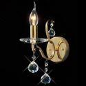 Kristall Wandleuchte-Gold oder Silber 1 flammig im Flur