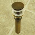 Antik Messing Ablaufgarnitur für Waschtisch / Waschbecken (0698-1003)