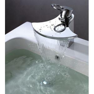 (EU Lager)Neuest Messing Blase-Form Einhand Wasserfall Wasserhahn