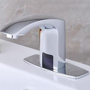 (EU Lager) Waschtischarmatur Sensor Bad Messing