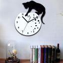 Freche Katze Acryl Wanduhr mit DIY Zifferblatt und Hände-Feature