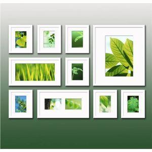 Weißer Wand Bilderrahmen - 10er Set