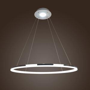 (EU Lager)LED Pendelleuchte Minimalismus aus Polyester Ring Design 80cm