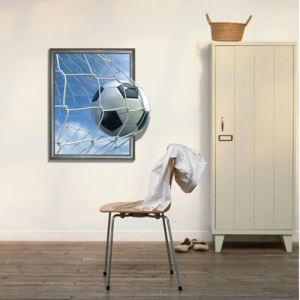 (EU Lager)3D Wandtattoo Fußball PVC Fototapete