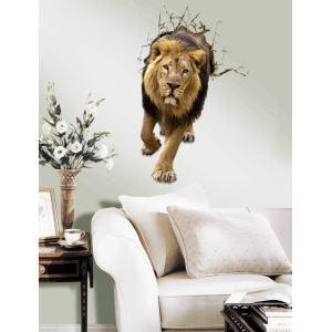 (EU Lager)3D Wandtattoo Löwe PVC Fototapete