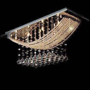 (EU Lager)Deckenleuchte Kristall Prachtvoll Moderne Pendelleuchte 8-Flammig
