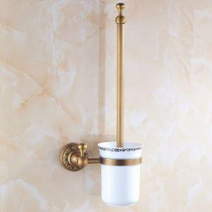 (EU Lager) Toilettenbürstenhalter Antik Messing Badezimmer Garnitur
