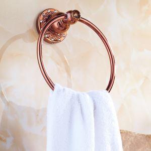 (EU Lager)Handtuchring Bad Wandmontage Rosegold Kupfer Badzubehör