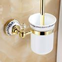 WC Bürstenhalter Modern Ti-PVD Gold Kupfer Bad-Accessoires