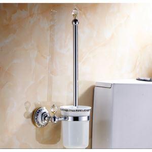 (EU Lager)WC Bürstenhatler Modern Kupfer Galvanisiert Badzubehör