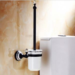 (EU Lager)Toilettenbürstenhalter Antik Messing ORB Kupfer Badzubehör