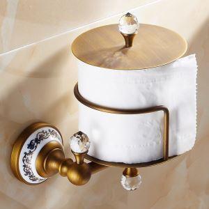 (EU Lager) WC Rollenhalter Antik Messing Badzubehör
