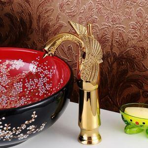 Modern Waschtisch Armatur Ti-PVD Gold