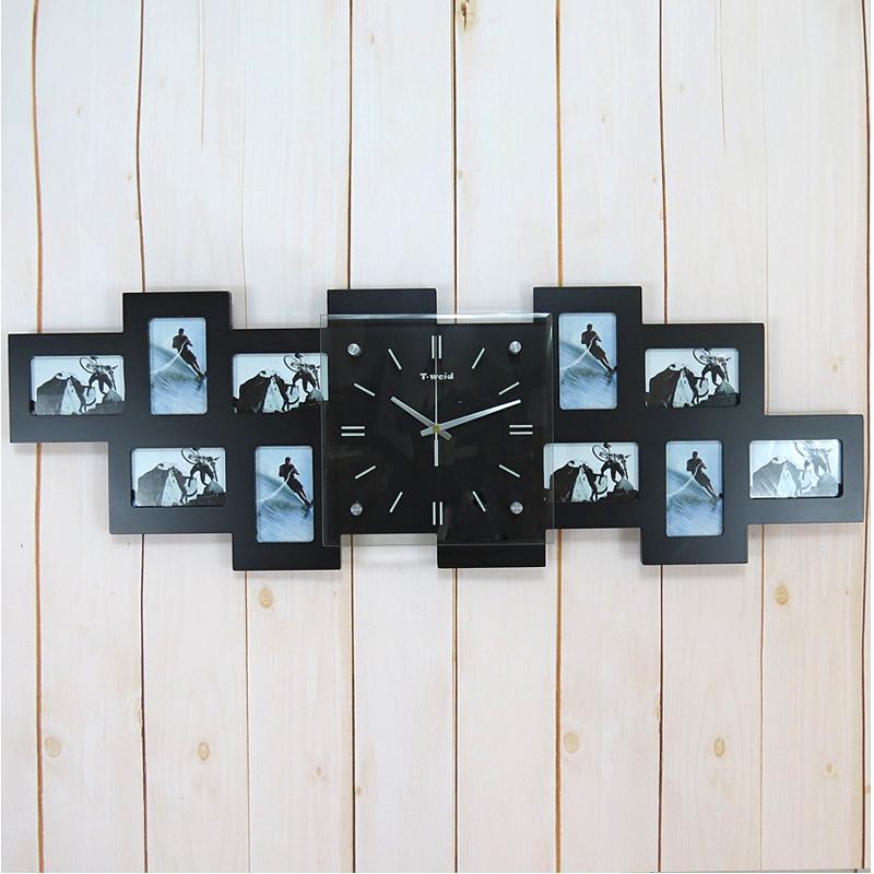 Hausdeko - Deko-Uhr - Bilderrahmenuhren - Wanduhr Modern Digital Glas Fotorahmen-Uhr Lautlos