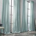 Vorhang Hellblau Uni Leinen Baumwolle ( 1 Stück )