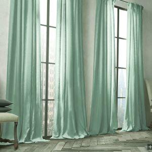 Vorhang Grün Uni Leinen Baumwolle ( 1 Stück )