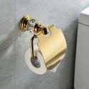 Zeitgenössisch Wandmontage WC-Rollenhalter Gold Kupfer & Kristall