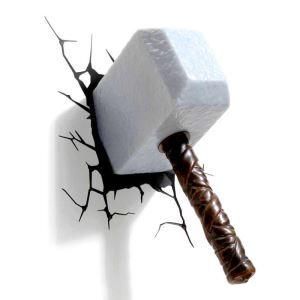 (EU Lager)3D Wandleuchte LED Modern Großer Hammer Design