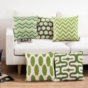 (EU Lager)Kissenhülle Leinen Mittelmeer Stil Grüne Muster
