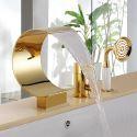 Wannenrand Armatur 3-Loch Einhand Ti-PVD Gold